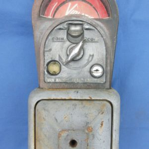 Vintage Rhodes M.H. Rhodes parking meter with key